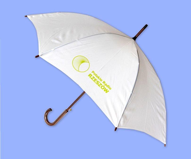 Zabezpieczony: Parasol z logo Polskiego Radia Rzeszów