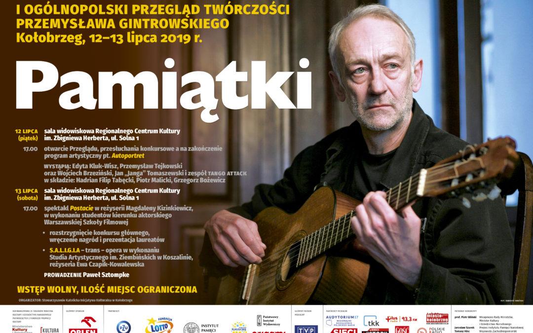 """""""PAMIĄTKI"""" Przemysława Gintrowskiego"""