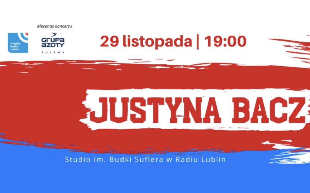Radio Lublin zaprasza na koncert Justyny Bacz