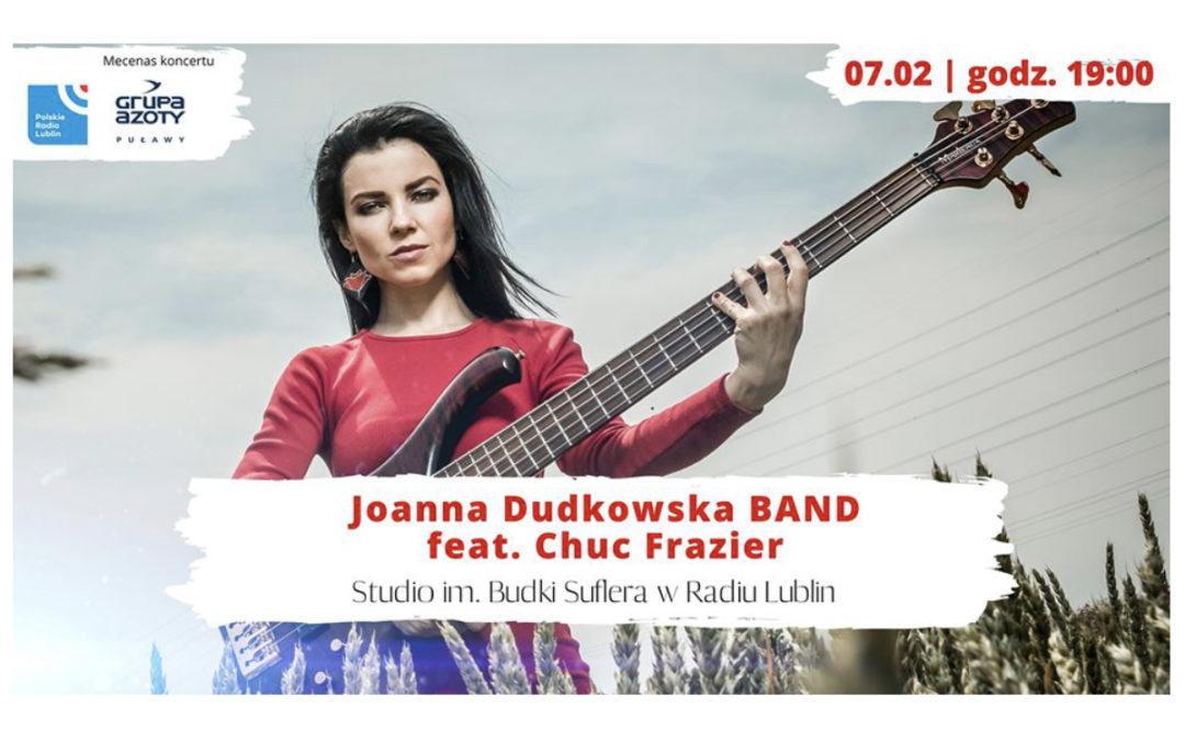 Joanna Dudkowska BAND feat. Chuc Frazier w Radiu Lublin