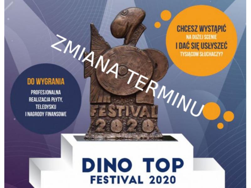 Zmiana terminu zgłoszeń w konkursie Dino Top Festival!