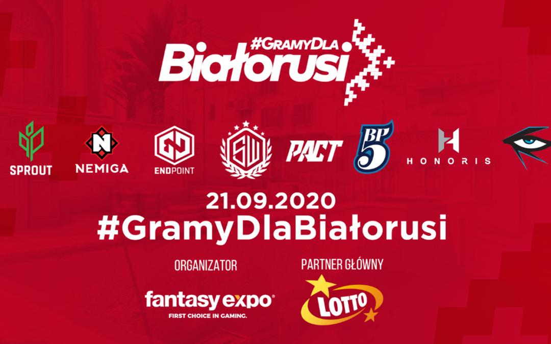Esportowcy zagrali dla Białorusi w turnieju #GramyDlaBiałorusi