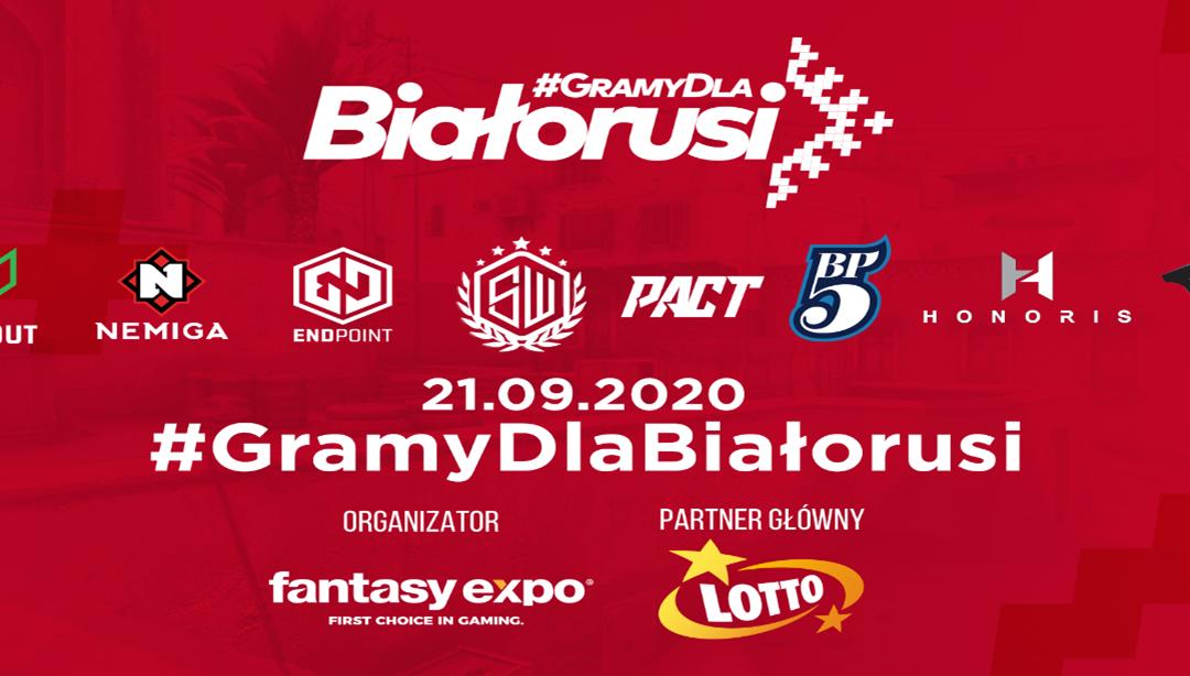 #GramyDlaBiałorusi – osiem zespołów z całej Europy weźmie udział w esportowym turnieju charytatywnym!