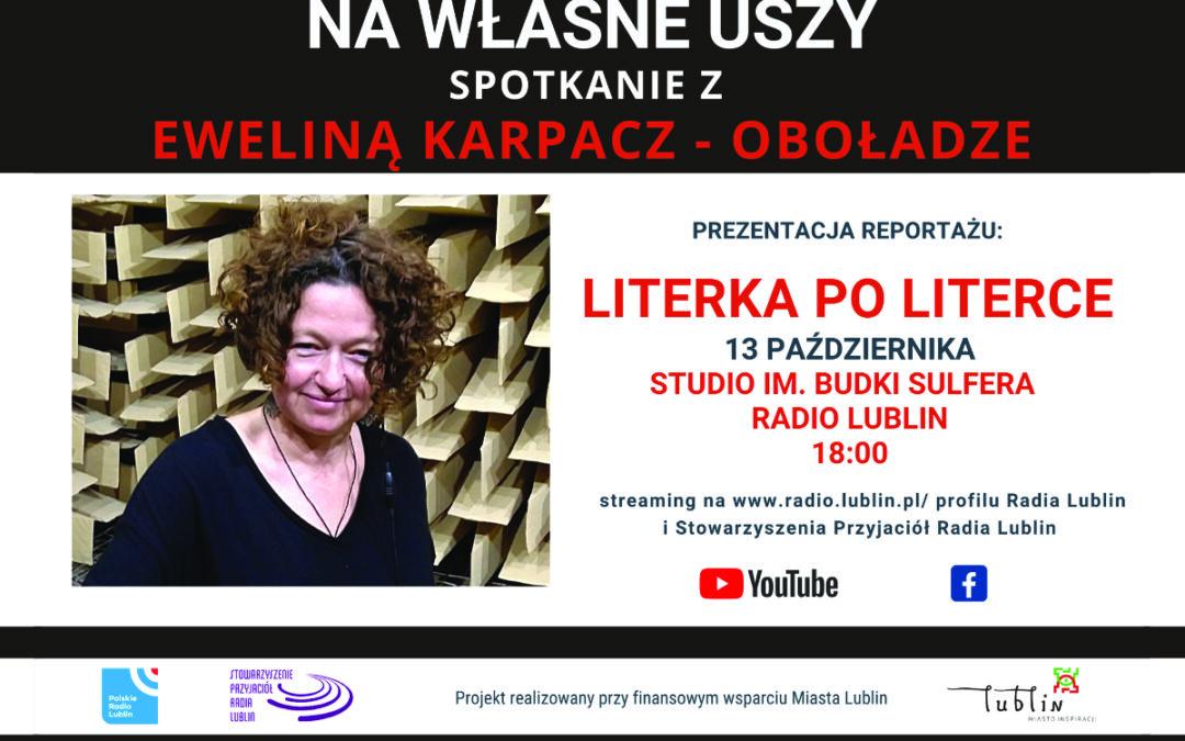 Radio Lublin zaprasza na spotkanie z Eweliną Karpacz-Oboładze