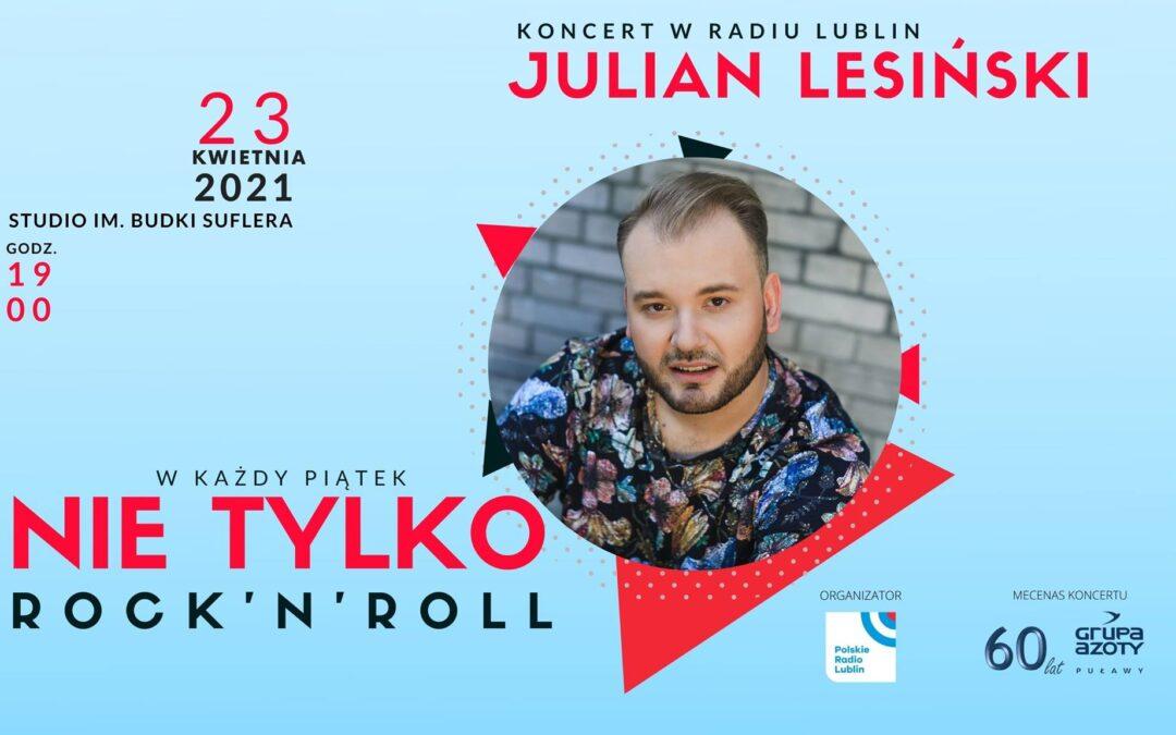 Koncert Juliana Lesińskiego w Radiu Lublin